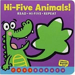 Best books for 2 year olds, Hi Five Animals