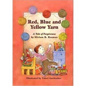 Jewish Children's Books, red blue and yellow yarn.jpg