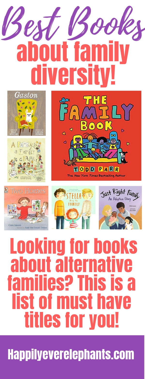 Looking for books about alternative families and family diversity? This is the list for you!