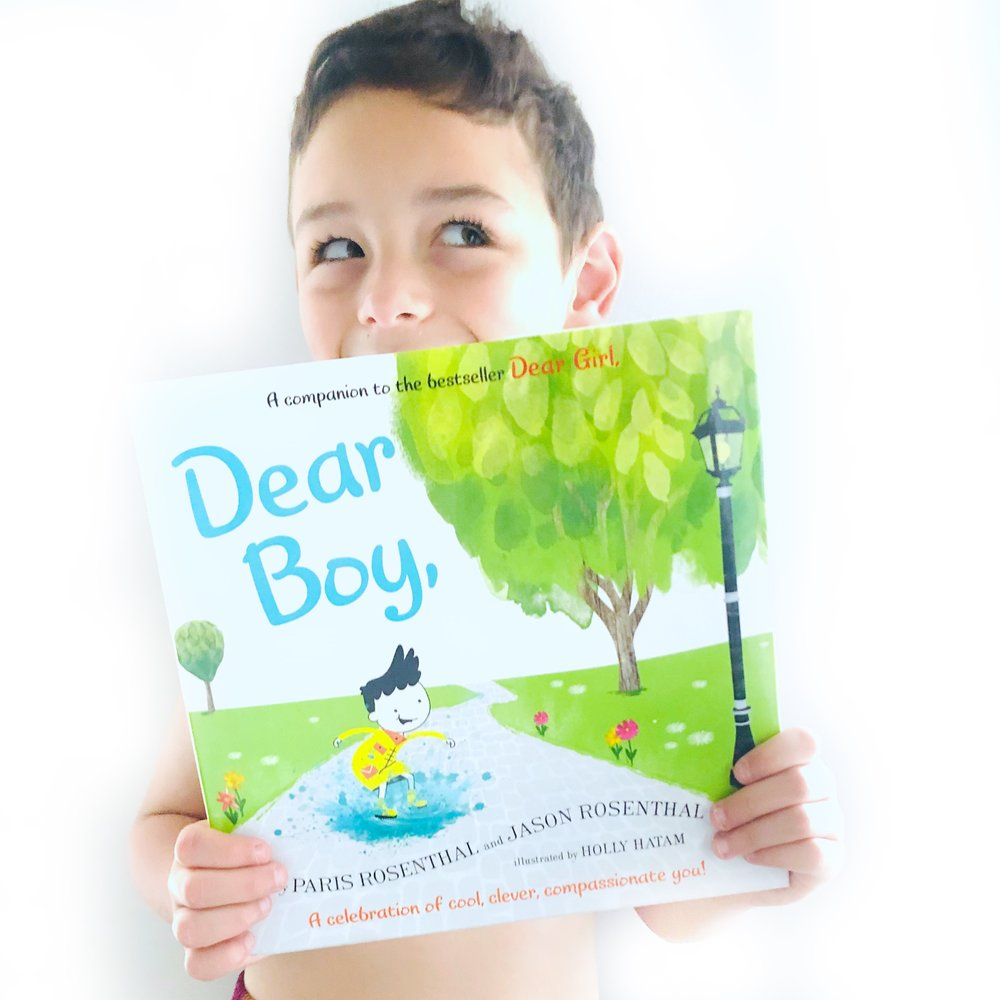 Books for Little Boys, DEAR BOY by Paris Rosenthal, Jason Rosenthal and illustrated by Holly Hatam