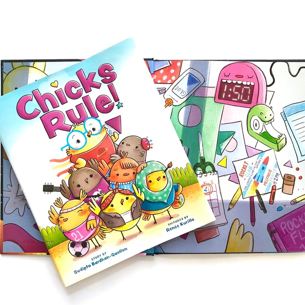Books About Strong Girls, Chicks Rule by Sudipta Bardham-Quallen and illustrated by Renee Kurilla