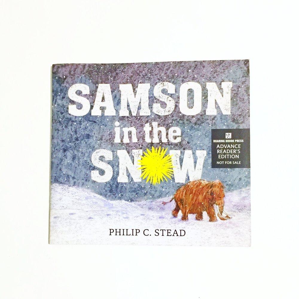 Philip Stead, SAMSON IN THE SNOW