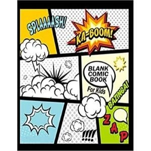 little bookworms bookish gifts, Blank Comic Book for Kids.jpg