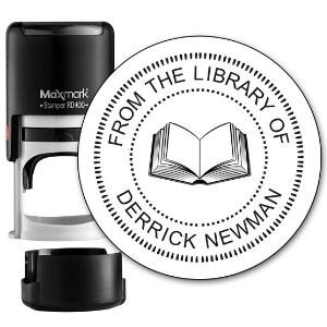 little bookworms bookish gifts, Custom library stamp.jpg
